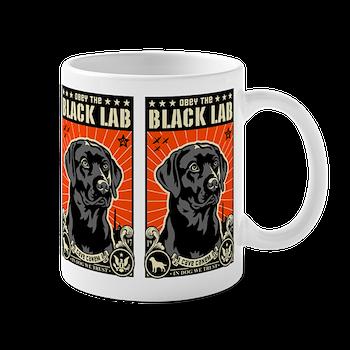 Obey The Black Lab Coffee Mug