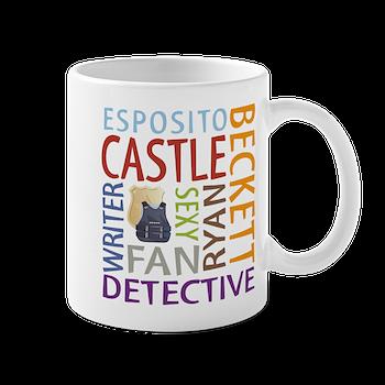castle tv show mug