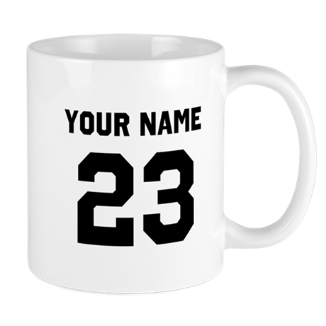 customize sports jersey number small mugs by designsanddesigns. Black Bedroom Furniture Sets. Home Design Ideas