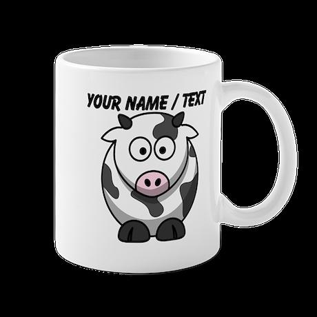 custom cartoon cow mug by customanimaldesigns. Black Bedroom Furniture Sets. Home Design Ideas