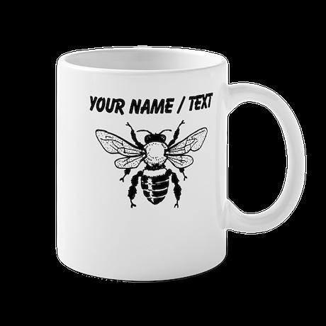 custom honey bee mugs by personalizedanimalgifts. Black Bedroom Furniture Sets. Home Design Ideas