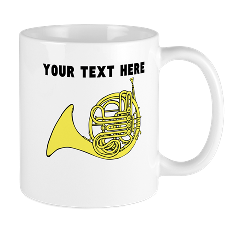 custom french horn mugs by custommusic. Black Bedroom Furniture Sets. Home Design Ideas