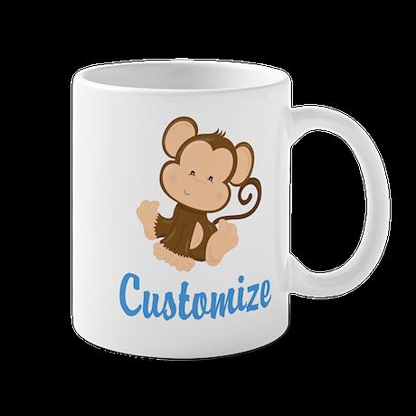 custom monkey mug by 1512boulevard. Black Bedroom Furniture Sets. Home Design Ideas
