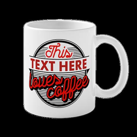 Personalized Coffee Lovers Mug