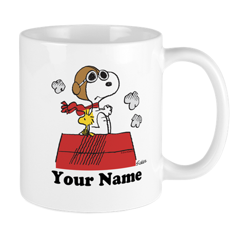 Peanuts Flying Ace Personalized Mug