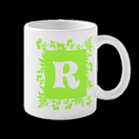 Plants and Letter R. Mug