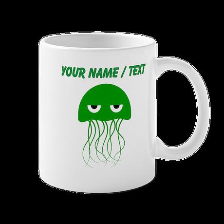 Custom Green Jellyfish Mugs