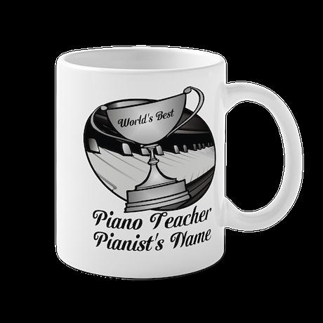 Personalized Piano Teacher Mugs