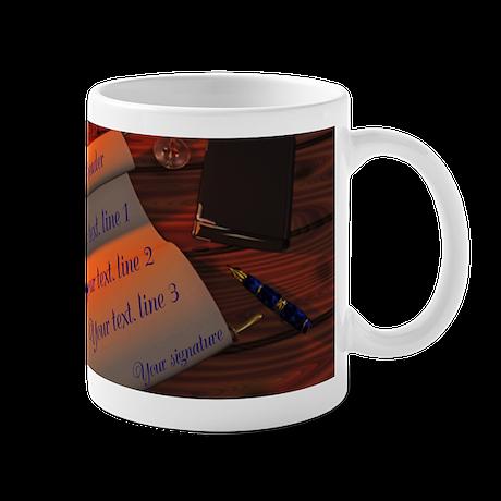 Personalizable handwritten letter Mug