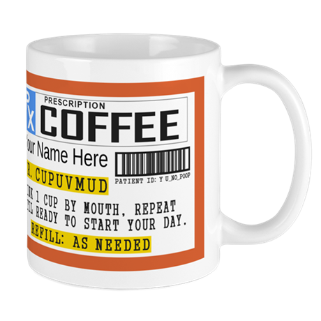 Personalized Prescription Coffee Mugs By Etopix