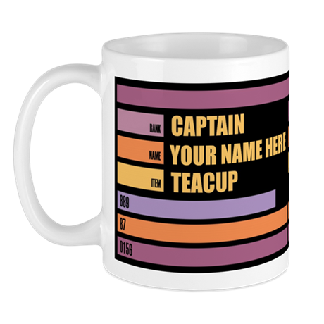 Star Trek Captain Tea Personalized