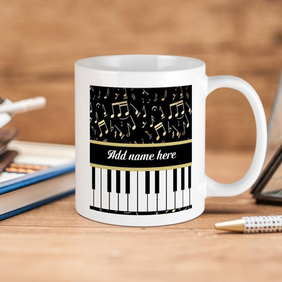 Personalized Piano and musical notes