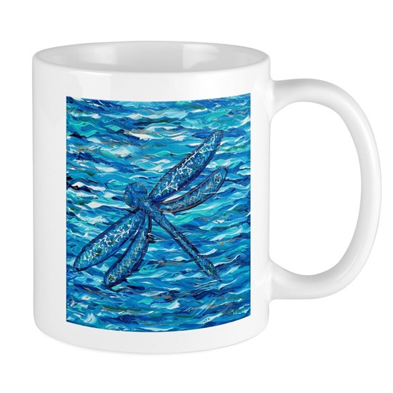 Blue Dragonfly Painting