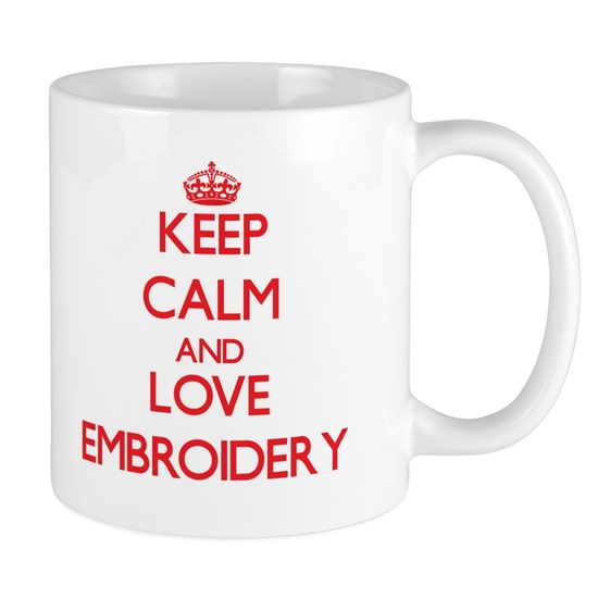 Keep calm and love Embroidery