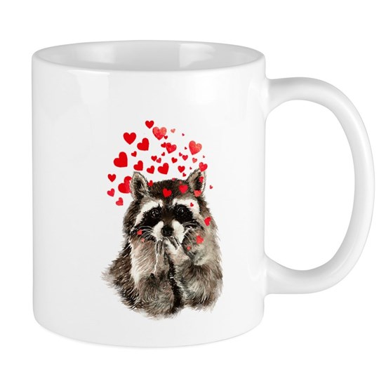 Raccoon Blowing Kisses Cute Animal Love