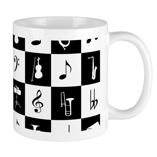 Stylish modern music notes and instruments
