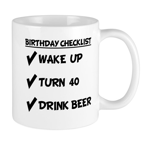 40th Birthday Checklist Drink Beer