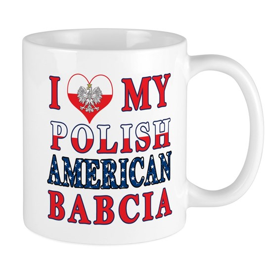 I Heart My Polish American Babcia Flag