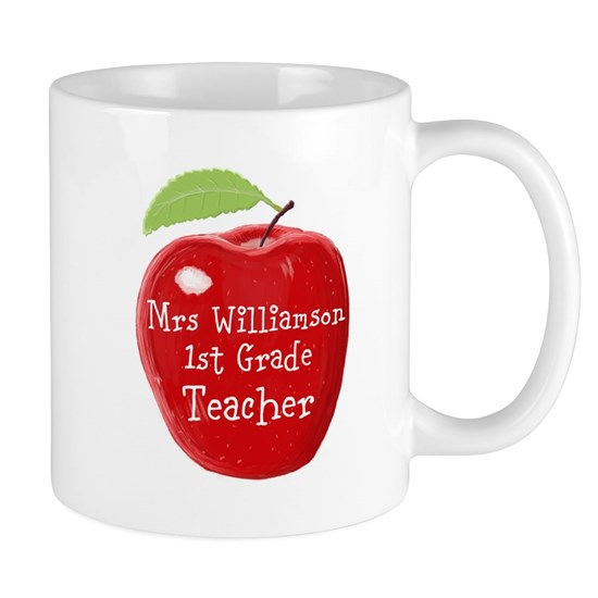 Personalised Teacher Apple Painting