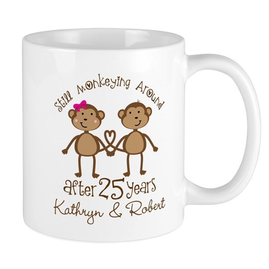 5d814712 25th Anniversary Funny Personalized Gift 11 oz Ceramic Mug 25th ...