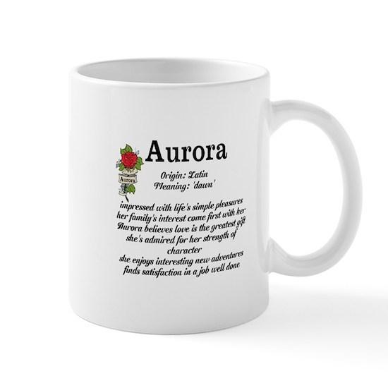 Aurora Name Meaning Design 11 oz Ceramic Mug