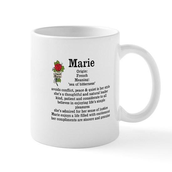 Marie Name Meaning Design 11 oz Ceramic Mug