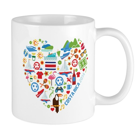 Costa Rica Soccer (Football) World Cup Heart