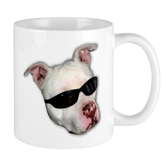 Pitbull with sunglasses