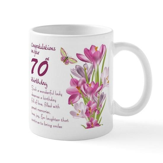 70th Birthday Greeting Gift Mug