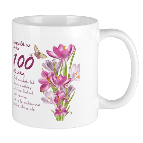 100th Birthday crocus Gift Mug