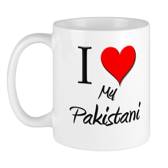 5-4-3-Pakistani 11 Oz Ceramic Mug I Love My Pakistani Mug