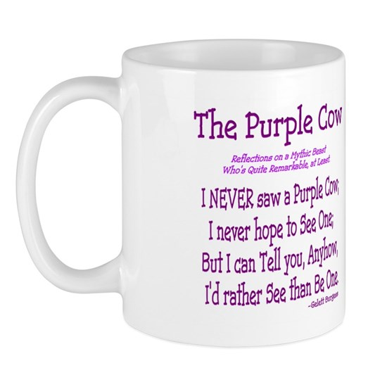 Purple Cow / Poem 11 oz Ceramic Mug