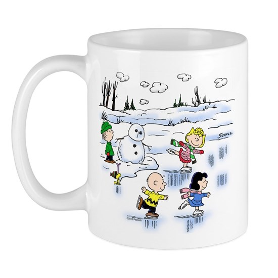 peanut gang snow scene