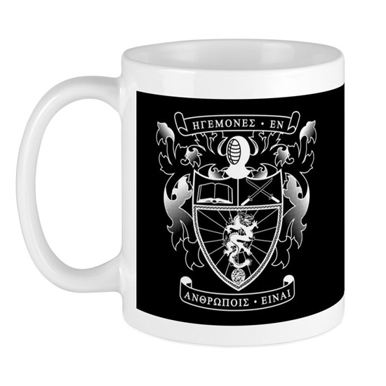 Lambda Phi Epsilon Crest Letters Black Mug
