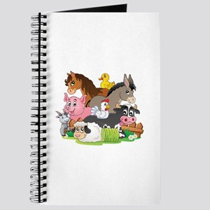 Cartoon Farm Animals Journal
