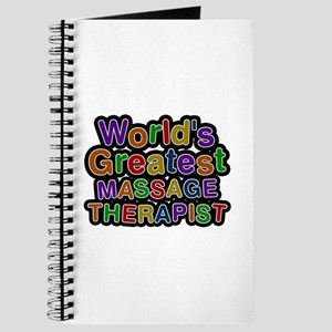 World's Greatest MASSAGE THERAPIST Journal