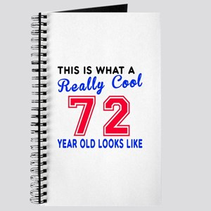 Really Cool 72 Birthday Designs Journal