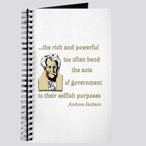 Andrew Jackson on the rich and powerful Journal