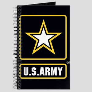 US ARMY Gold Star Logo Black Journal