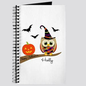 Custom name Halloween owl Journal