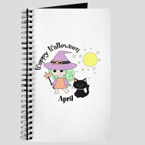 Custom name Halloween witch Journal