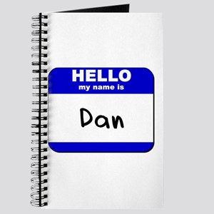 hello my name is dan Journal