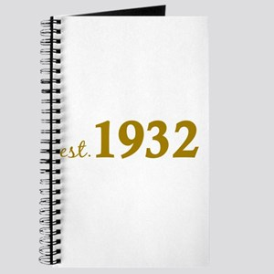 Est 1932 (Birth Year) Journal