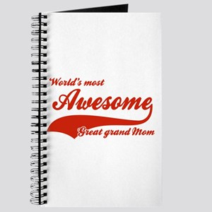World's Most Awesome Great Grand mom Journal