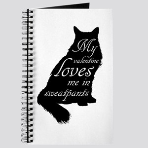 Valentine Cat loves Sweatpants Journal