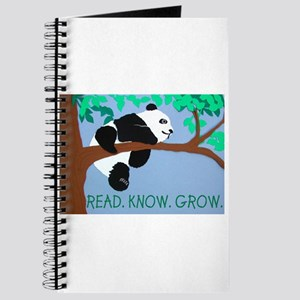 Panda says Read.Know.Grow. Journal