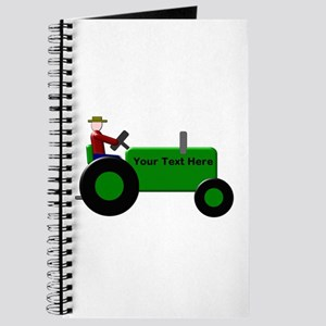 Personalized Green Tractor Journal