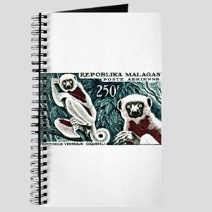 1961 Madagascar Lemur White Sifaka Stamp Journal