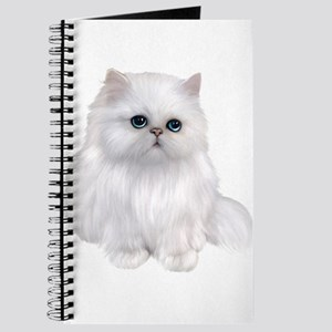 white Persian Cat Journal