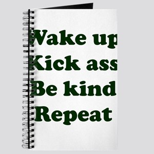 Wake Up Kick Ass Be Kind Repeat Journal
